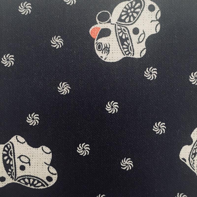 Takumi Printed Cotton Fabric Black 17N-1A