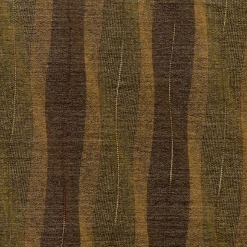 Sakizome Momen Fabric Waving Lines Brown KK-1072C