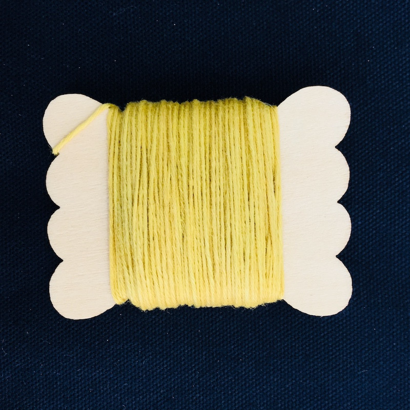 Sun Dyed Sashiko Thread  20m Bright Yellow STBW-01
