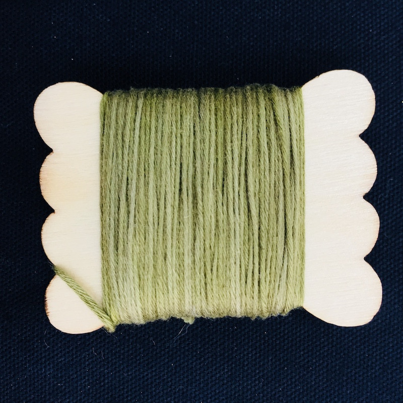 Sun Dyed Sashiko Thread  20m Herb Green STBW-02