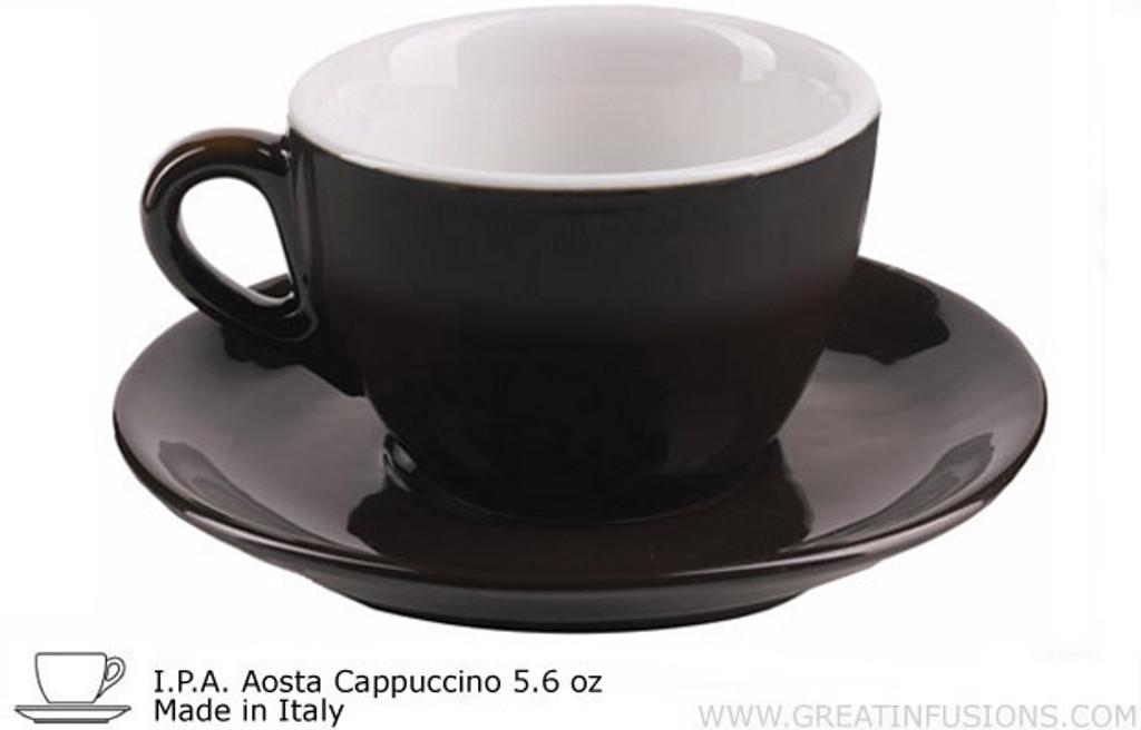 Black Aoste Cappuccino Cup