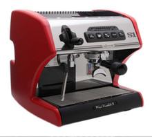 spaziale vivaldi mini dual boiler espresso machine red panels