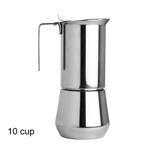 Ilsa 10 Cup Stainless Steel Moka Pot