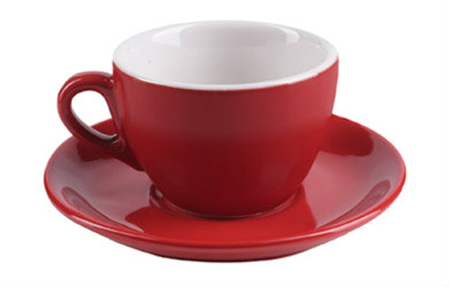 ipa aoste cappuccino cup in red