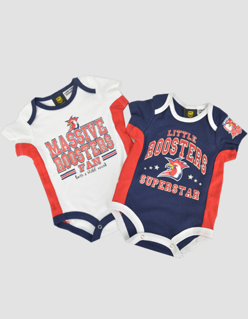 Sydney Roosters Babies Bodysuit 2 Piece Gift Pack