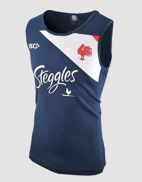 Sydney Roosters 2018 Mens Training Singlet - Navy/White