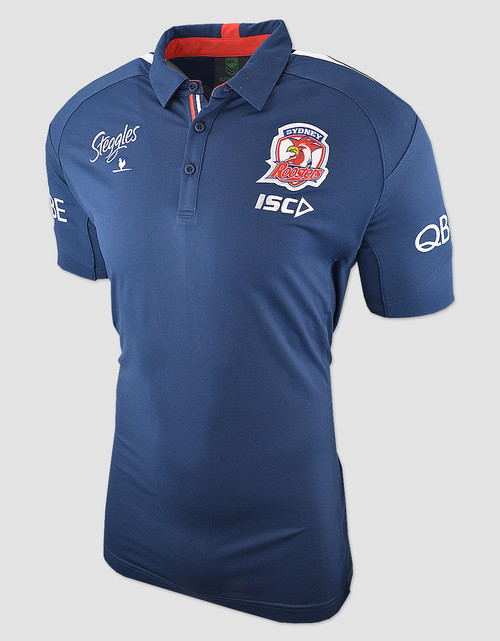 Sydney Roosters 2018 Womens Media Polo - Navy/Red