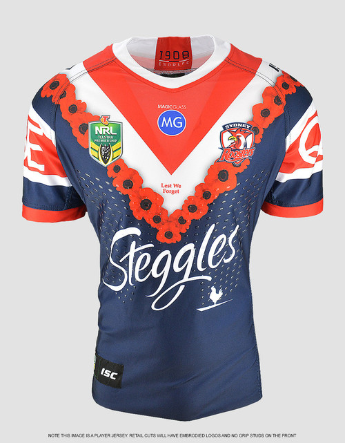 Sydney Roosters 2018 Kids ANZAC Cup Jersey