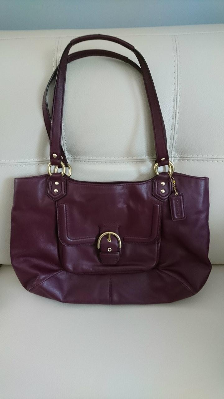 8a2bc57cc100 Coach - Shoulder Bag - Women s Handbag - Large - Burgundy - Pre-Owned
