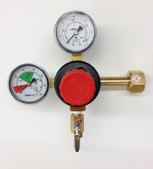 Taprite 742HP Regulator Double Gauge CO2 w/ Easy Turn Knob