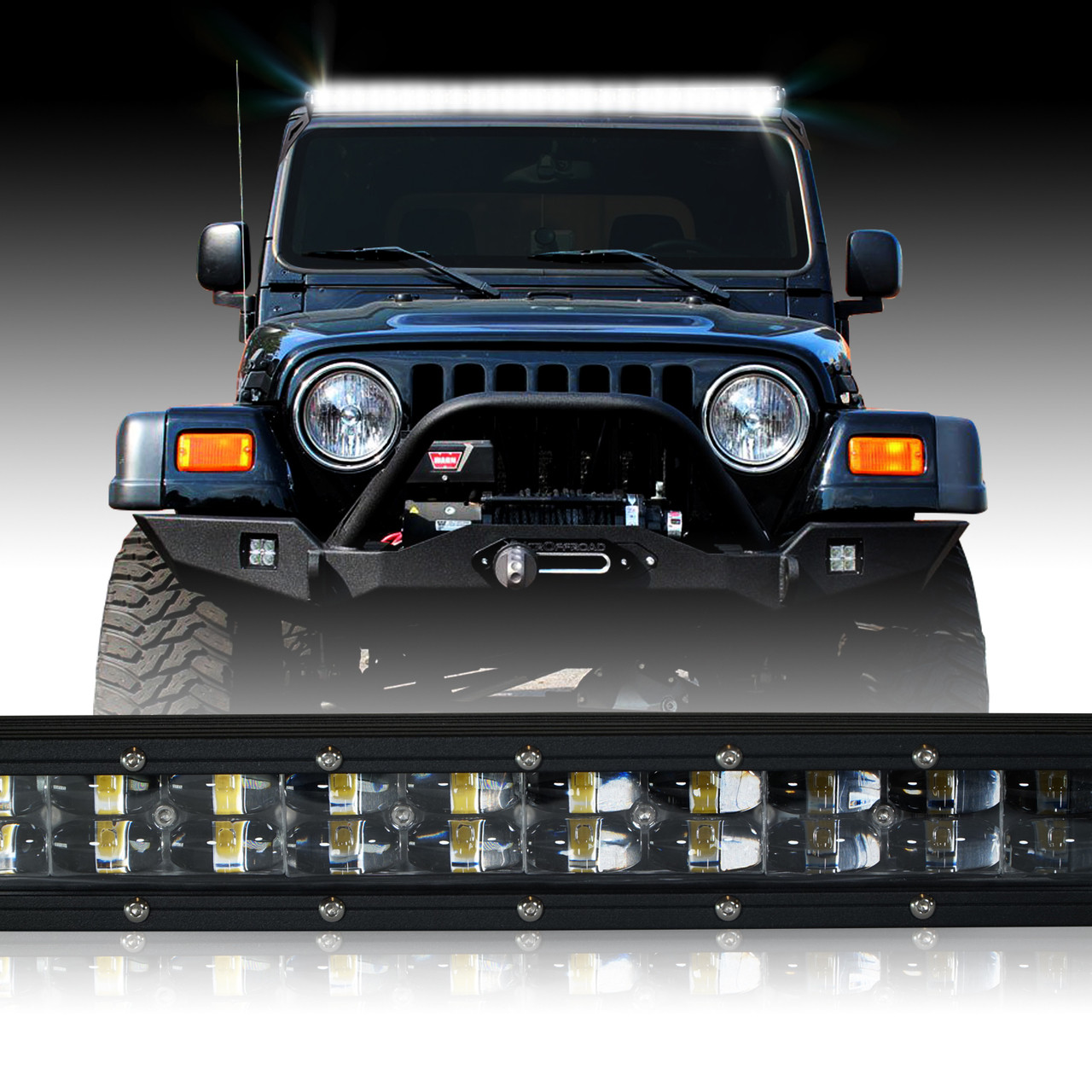 Led light bar 288w 50 inches bracket wiring harness kit for wrangler led light bar 288w 50 inches bracket wiring harness kit for wrangler tj 1997 2006 aloadofball Image collections