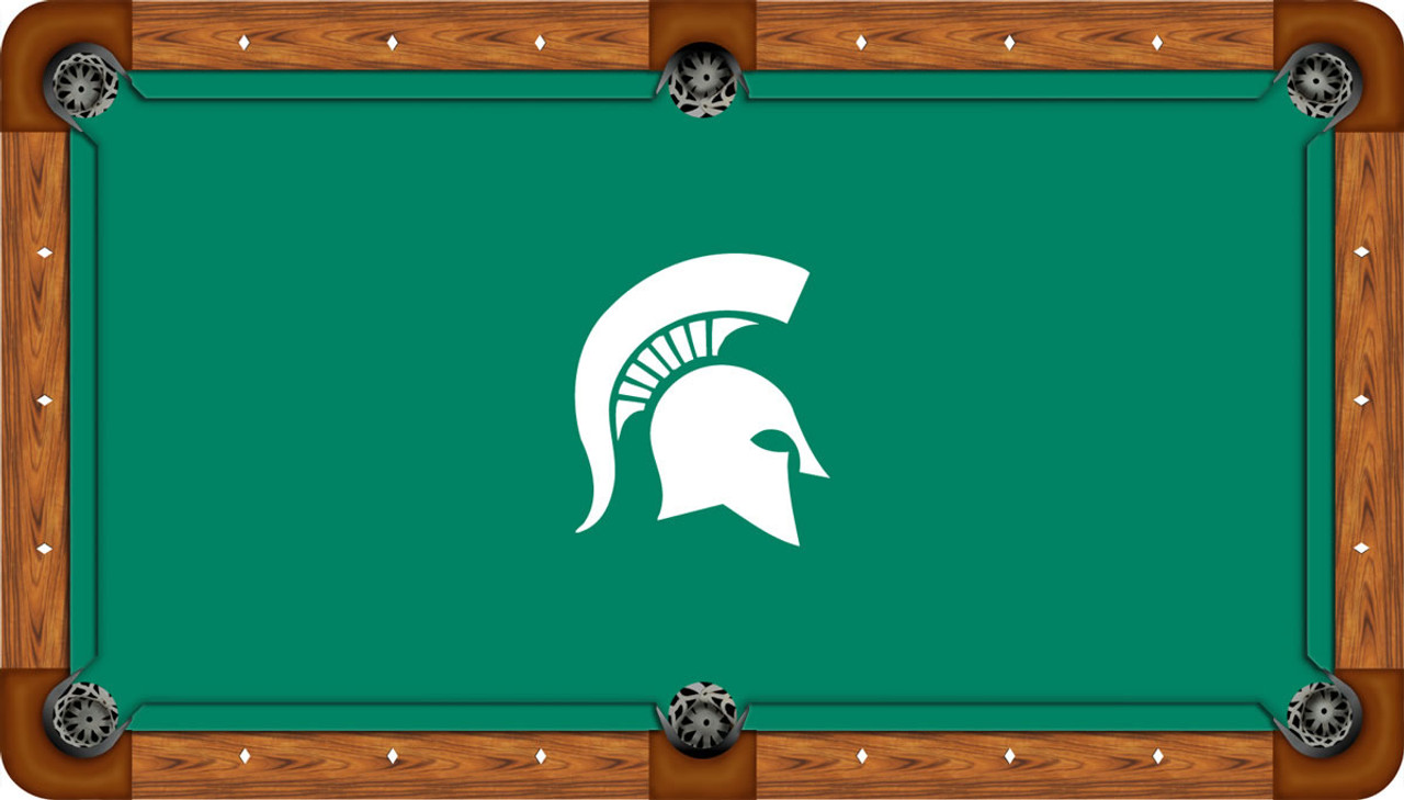 Michigan State Spartans 9 Foot Custom Pool Table Felt