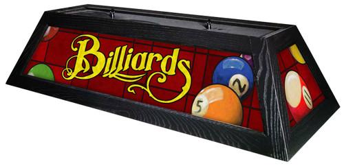Billiards Red Table Light Black Frame