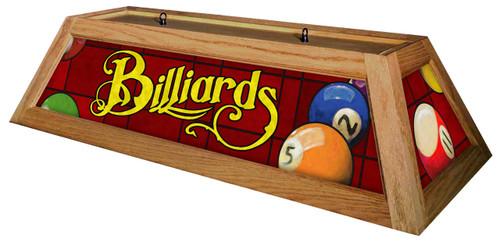 Billiards Red Table Light Oak Frame