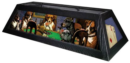 Poker Dogs Table Light Black Frame