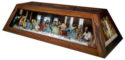 Last Supper Table Light Brown Frame