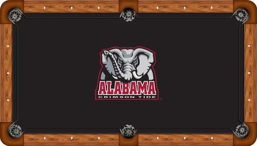 Alabama Crimson Tide 8 foot Custom Pool Table Felt