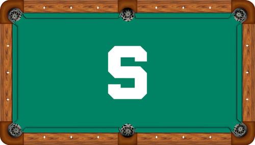 Michigan State Spartans 8 Foot Custom Pool Table Felt