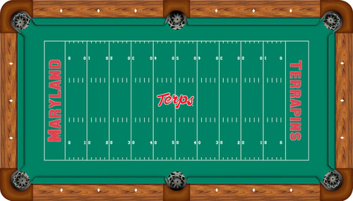Maryland Terrapins Foot Custom Pool Table Felt CueSightcom - Pool table stores in maryland