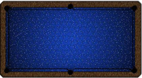 ArtScape Blue Triangles Pool Table Cloth