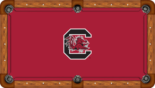 South Carolina Gamecocks 9 Foot Custom Pool Table Felt