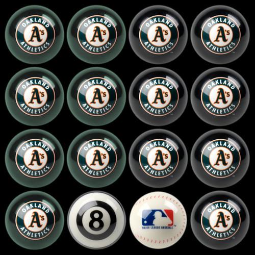 Oakland Athletics Pool Balls