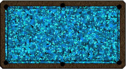 ArtScape Blue Hexagons Pool Table Cloth