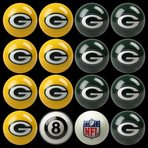Green Bay Packers Pool Balls