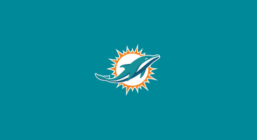 Miami Dolphins Pool Table Felt for 8 foot table