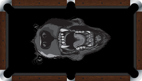 VIVID Black Bear 9' Pool Table Felt