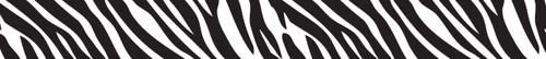 Vivid Printed Pool Table Felt Rails - Zebra - Black/White