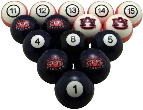Auburn Tigers Numbered Billiard Ball Set