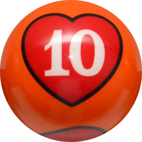 Crown Poker Games - Individual 10 of Hearts Ball