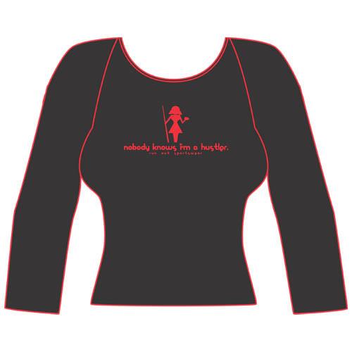 """""""Girly Hustler"""" Long Sleeve T-Shirt, Black"""