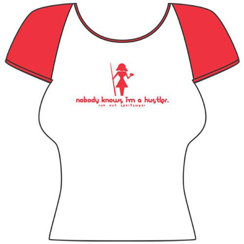 """""""Girly Hustler"""" Short Sleeve T-Shirt, White"""
