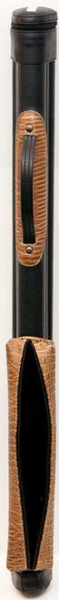 Scratch and Dent Sterling Black/Brown Fancy Pool Cue Case for 1 Cue and Extra Shaft