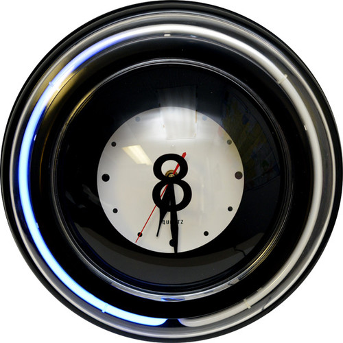 Scratch and Dent Large 8 Ball Neon Clock