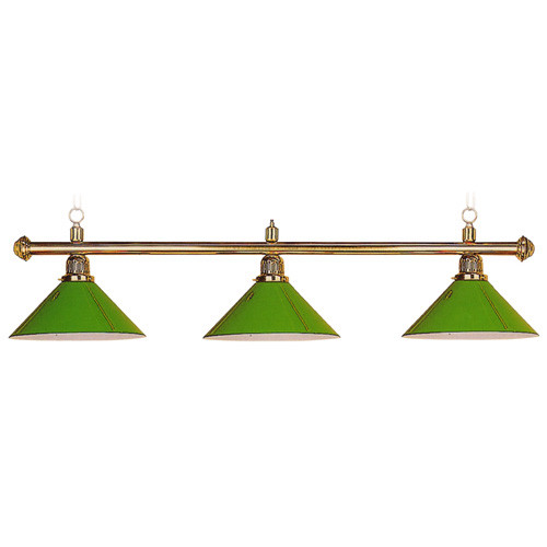 Sterling solid brass pool table lamp 58 3 green aluminum shades sterling solid brass pool table lamp 58 3 green aluminum shades aloadofball Gallery