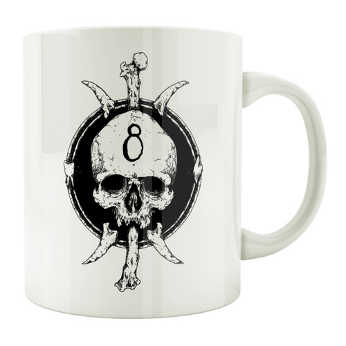 8-Ball Skull 11oz. Coffee Mug