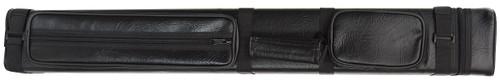 Black Hard Pool Cue Case for 3 Butts, 6 Shafts