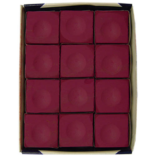Silver Cup Chalk, Burgundy, 12-Piece Box