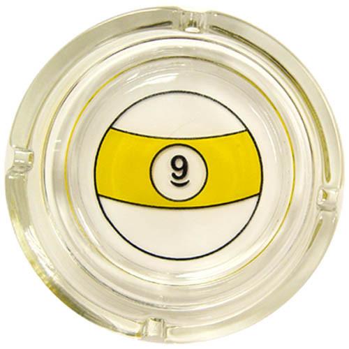 9-Ball Glass Ash Tray