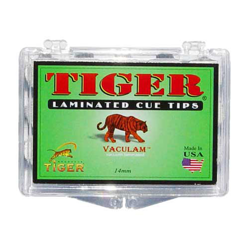 Tiger Laminated Tips, Hard, 14mm (Box of 12)