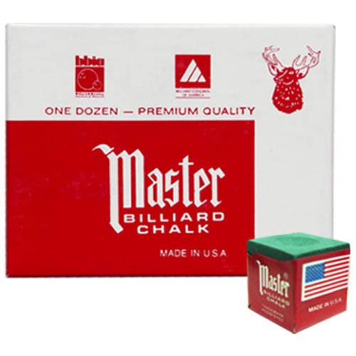 Master Chalk, Green, 12-Piece Box