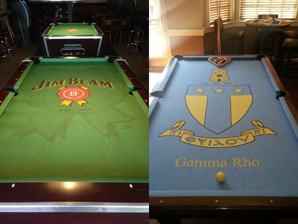 Custom Pool Table Felt Designs