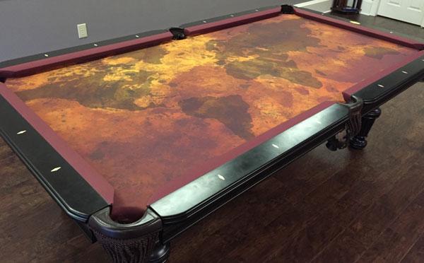 Custom Pool Table Felt   Grunge Map