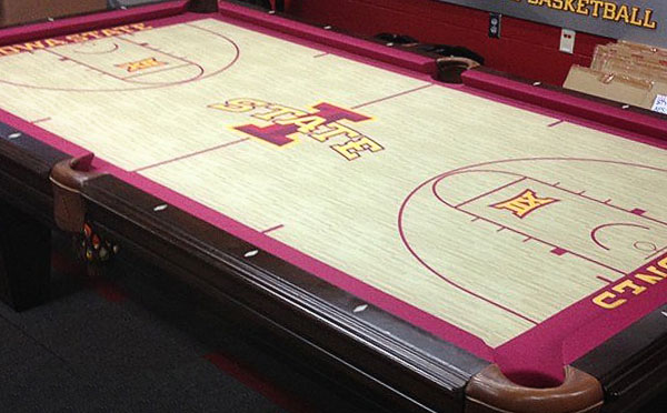 Genial Custom Pool Table Felt   Iowa State Cyclones