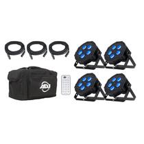 American DJ Mega Flat Hex Pak RGBAW+UV Lighting Package