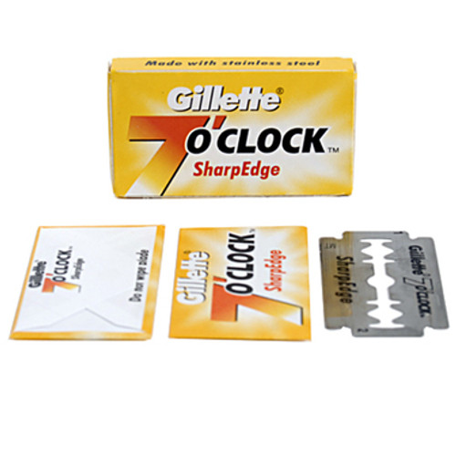 Gillette 7 O'Clock SharpEdge Double Edge Blades - 5 count