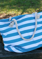 Let's Go to the Beach Beach Bag- Turquoise